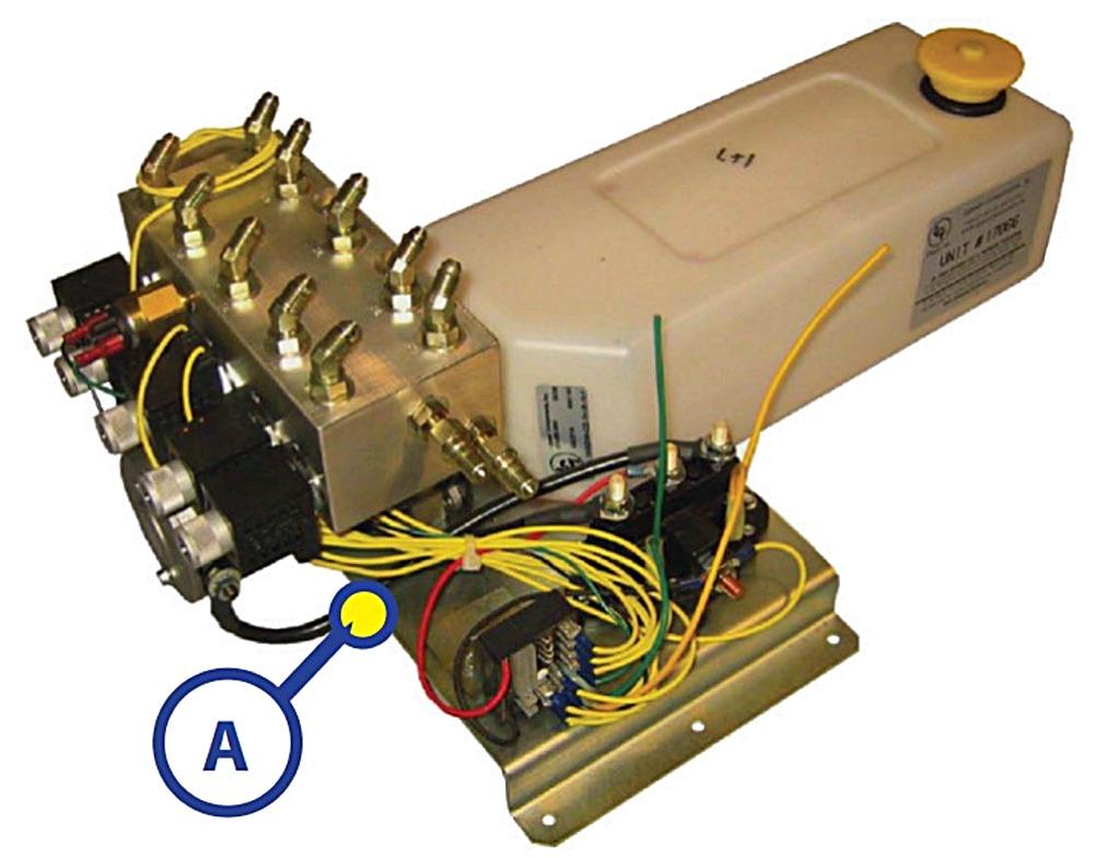 Lippert 167576 hydraulic bi rotational pump motor for Hydraulic pump with motor