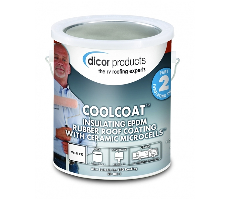 Dicor CoolCoat Insulating EPDM Rubber Roof Coating