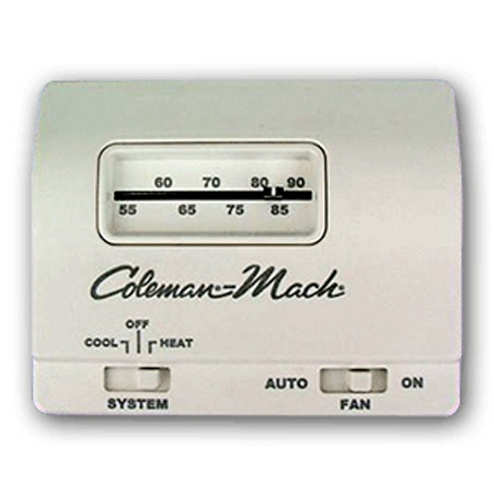 64680 2T coleman mach 7330b3441 wall thermostat, single stage heat cool coleman mach rv thermostat wiring diagram at fashall.co
