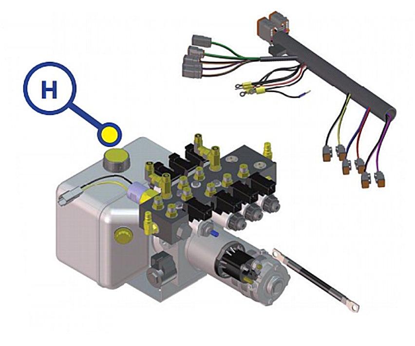 Lippert 179327 Hydraulic Pump Motor For Lippert Leveling