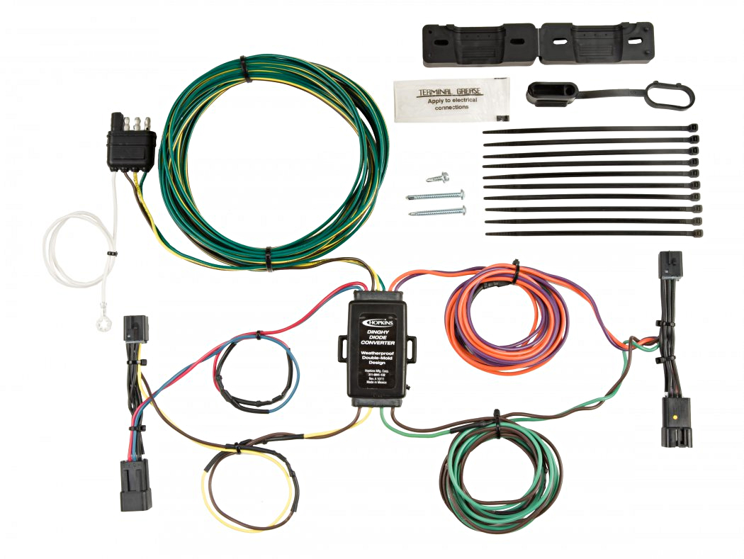 56303 hopkins 56200 jeep towed vehicle wiring kit