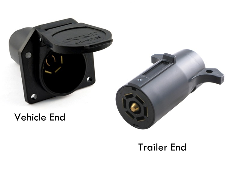 Way Trailer Plug Wiring Together With 7 Way Round Trailer Connector