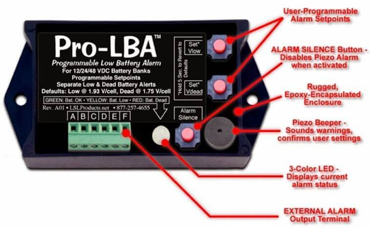 LSL Products PRO-LBA Programmable Low Battery Alarm
