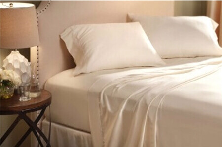Denver Mattress RV Collection Queen Sateen Ivory Sheet Set