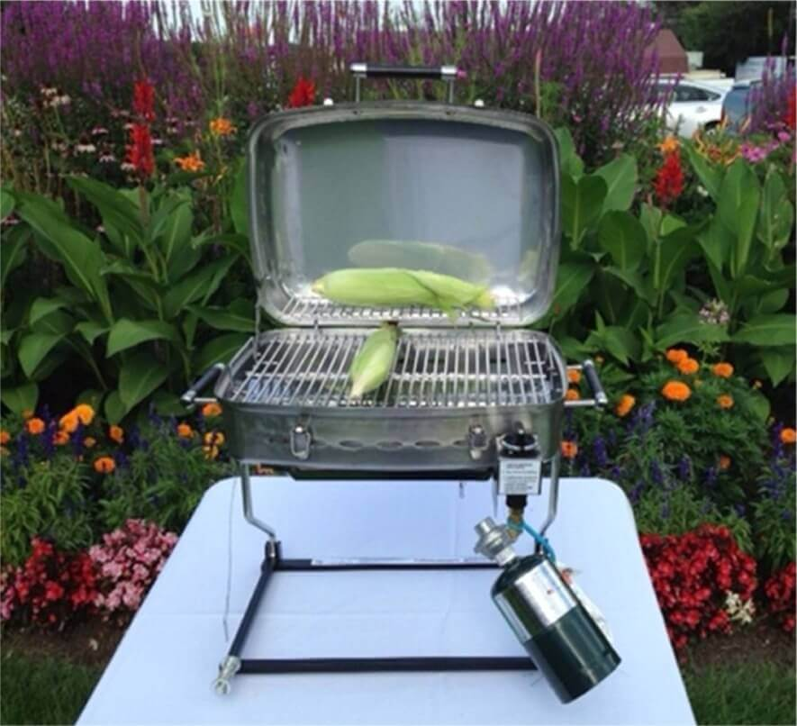 Outdoors Unlimited Stainless Steel RV LP Gas Grill