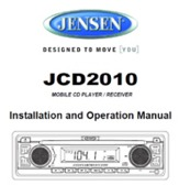 Jensen JCD2010 Owners Manual
