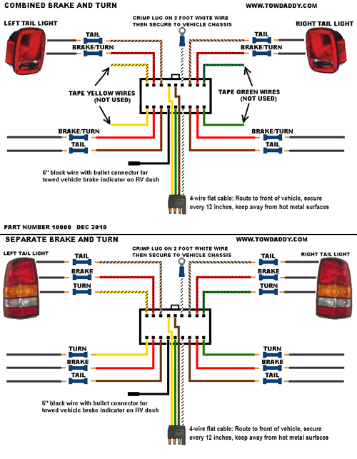 plug_n_tow_10000 tail light wiring diagram 1965 mustang tail light wiring diagram 4-Wire Flat Trailer Wiring at gsmportal.co