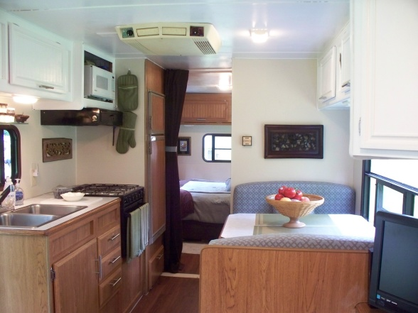 RV awning and patio accessories