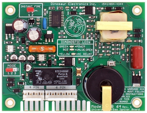 Dinosaur Electric Uib64 Ignition Control Circuit Board For Atwood Ac Gas Water Heaters