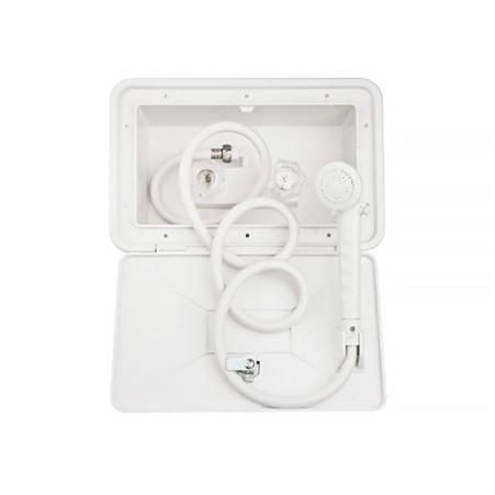 Dura Faucet DF-SA170-WT RV Exterior Shower Box Kit - White