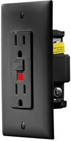 Rv Designer S807 Ac Gfci Dual Outlet With Black Cover Plate