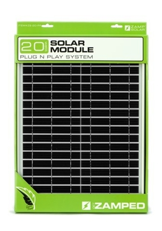 Zamp Solar Zs 20 Pp 20 Watt Panel With Plug