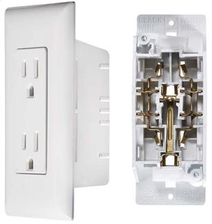 Rv Electrical Outlet >> Rv Designer S831 Ac Self Contained Dual Outlet Speedwire With White