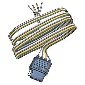Husky Towing 13190 4 Way Flat Trailer Wiring Connector 12