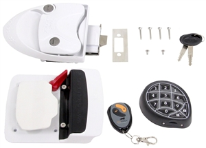 Mobile Outfitters 296656 Rvlock Keyless Rv Door Lock White