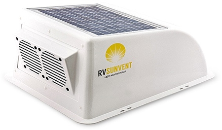 Stoett Sto Rvb100wh Rv Sunvent Solar Powered Rv Vent Cover