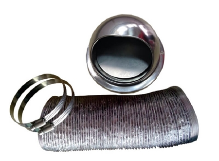 Pinnacle 18 1064 Outside Rv Dryer Vent Kit With Damper