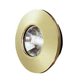 Gustafson am4014 brass halogen rv ceiling light with mounting collar aloadofball Choice Image