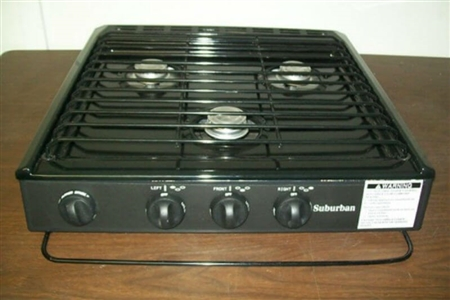 Suburban 3100a 3 Burner Slide In Rv Cooktop Stove Piezo