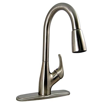 Phoenix PF231461 Hybrid Single Handle Pulldown Kitchen Faucet, Brushed  Nickel