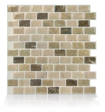 Smart Tiles SM1114G-04-QG 4 Pack Mosaic Tile RV Backsplash - Ravenna Terra